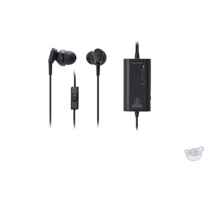 Audio Technica ATH-ANC33IS  Active Noise Cancelling In Ear Headphones (Black)
