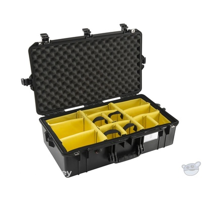 Pelican 1605 Air Carry-On Case (Black, with Dividers)