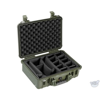 Pelican 1504 Case with Dividers (Olive Drab Green)