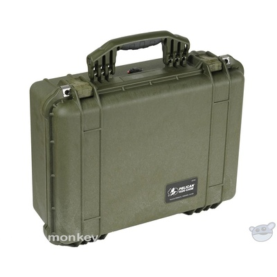 Pelican 1524 Case with Padded Dividers (Olive Drab Green)