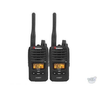 Uniden UH820S-2 80 Channel 2 Watt UHF Handheld Radio (2Pk)