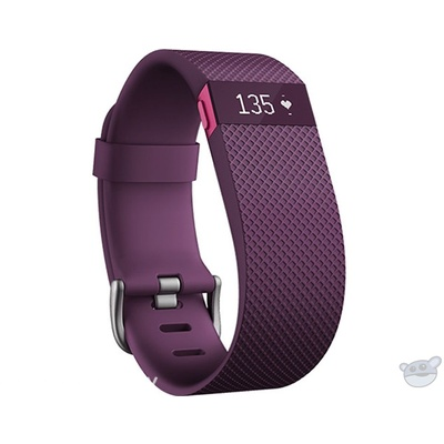 Fitbit Charge HR Activity, Heart Rate + Sleep Wristband (Large, Plum)