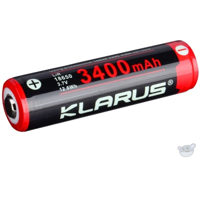 Klarus 18650 BAT-3400 Li-Ion Rechargeable Battery (3.7V, 3400mAh)
