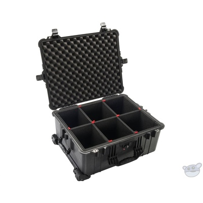 Pelican 1610TP Case with TrekPak Divider System (Black)