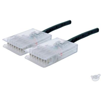 Dynamix 0.5M 4 Pair 110/110 Cat5E Patch Lead (Black)