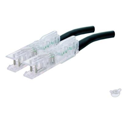Dynamix 1M 1 Pair 110/110 Cat5E Patch Lead (Black)