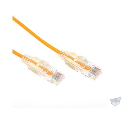 Dynamix 0.5M Cat6 Slimline Component Level UTP Patch Lead (Yellow)