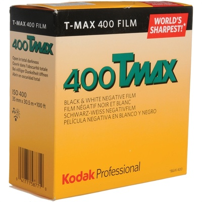Kodak Professional T-Max 400 Black and White Negative Film (35mm Roll Film, 100' Roll)