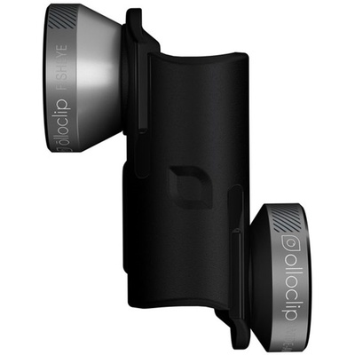 olloclip 4-in-1 Lens for OtterBox uniVERSE (Space Gray Lens, Black Clip)