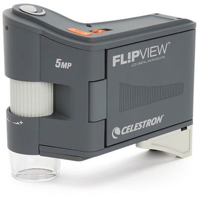 Celestron 5MP FlipView LCD Digital Handheld Microscope with 10-120x Magnification