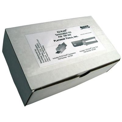 Platinum Tools EZ-RJ45 Convenience Pack with Crimp Tool and Cat5/5e Connectors