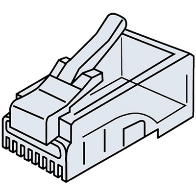 Platinum Tools CAT5e RJ45-8P8C Modular Connector (Jar Packaging, 100-Pieces)