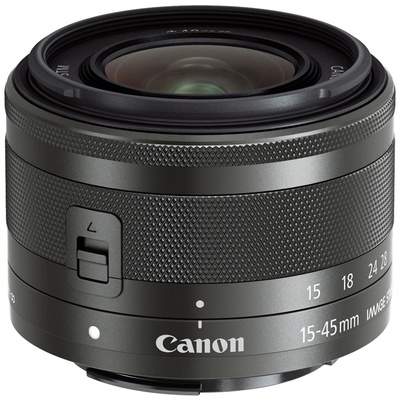 Canon EF-M 15-45mm f/3.5-6.3 IS STM Lens (Graphite)
