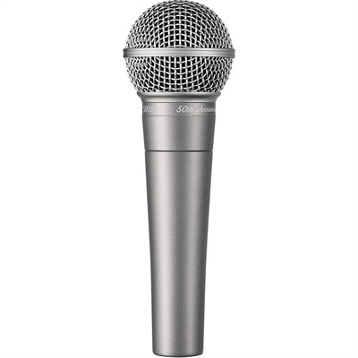 Shure SM58 50th Anniversary Edition Cardioid Dynamic Microphone (Silver)