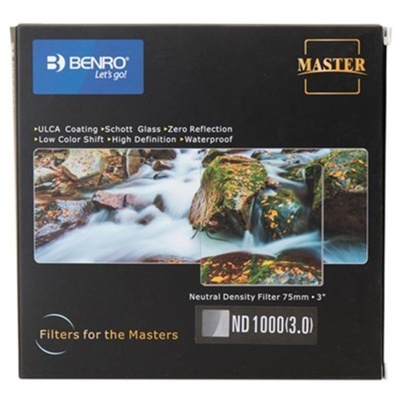 Benro FH75 ND1000 WMC 75x75mm Master Series Filter (10 Stops)