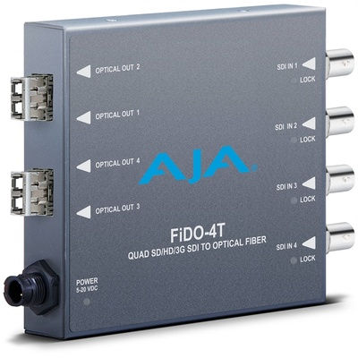 AJA FiDO-4T-X Quad Channel SDI to LC Fiber Converter for CWDM Module