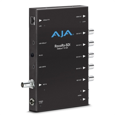 AJA AJA-ROVORX-SDI UltraHD/HD HDBaseT Receiver with 6G/3G-SDI & HDMI Outputs for RovoCam Camera