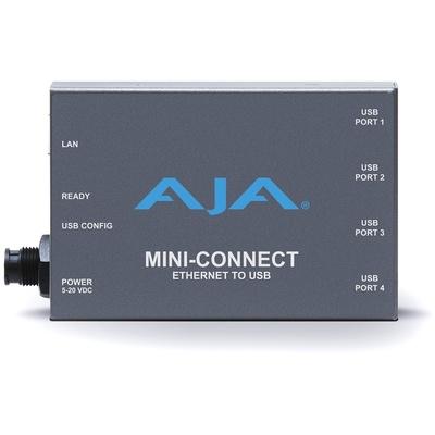 AJA Mini-Connect Ethernet to 4-Port USB Converter