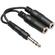 Hosa YPP-118 6.5mm Stereo Jack Splitter Cable