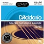 D'Addario EXP38 Light Coated Phosphor Bronze Acoustic Guitar Strings (12-String Set, 10 - 47)
