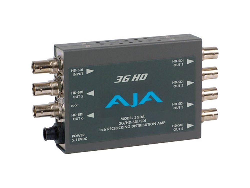 AJA 3GDA Reclocking Distribution Amplifier
