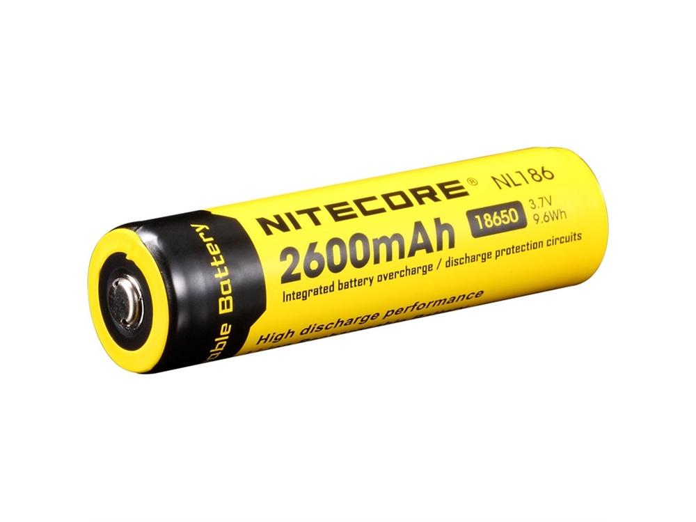 NITECORE NL1826 Li-Ion Rechargeable Battery 18650 (3.7V, 2600mAh)