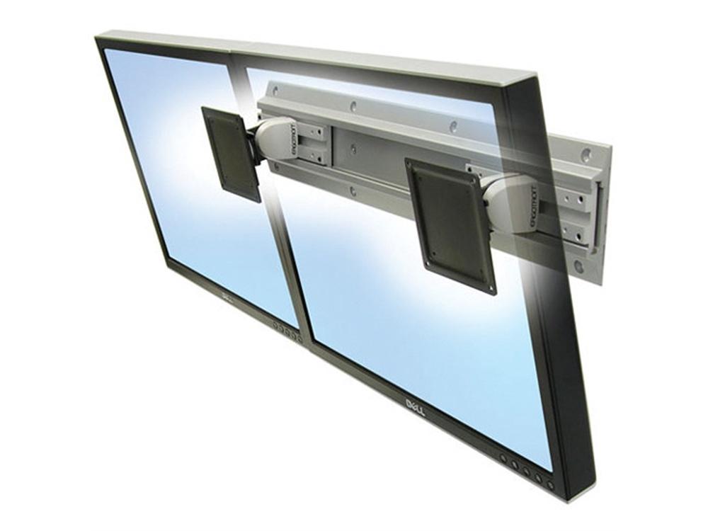 Ergotron Neo-Flex Dual Monitor & Keyboard Wall Mount (Grey & Black)