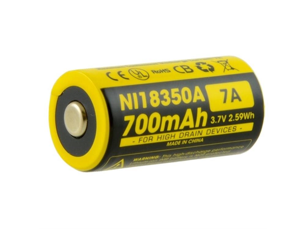 NITECORE IMR18350 Li-Ion Rechargeable Battery (700mAh)