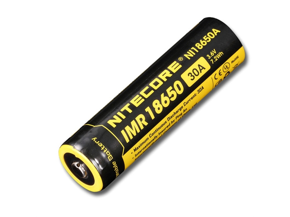 NITECORE NI18650A Li-Ion Rechargeable IMR 18650 Battery (2000mAh)