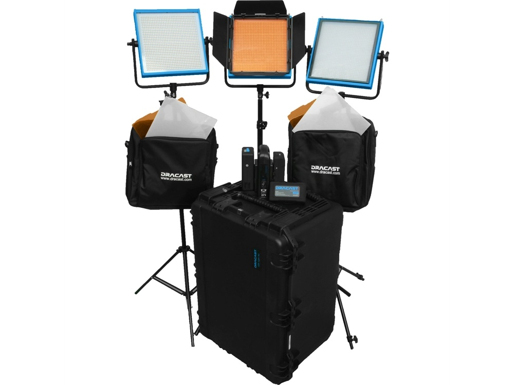 Dracast Studio Plus 3-Light Kit (Tungsten)