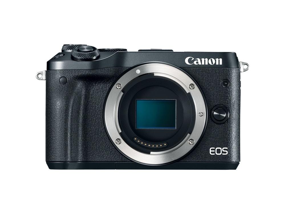 Canon EOS M6 Mirrorless Digital Camera (Body Only, Black)