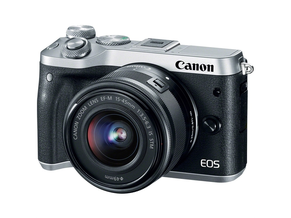 Canon EOS M6 Mirrorless Digital Camera with 15-45mm/55-200mm Lenses (Silver)