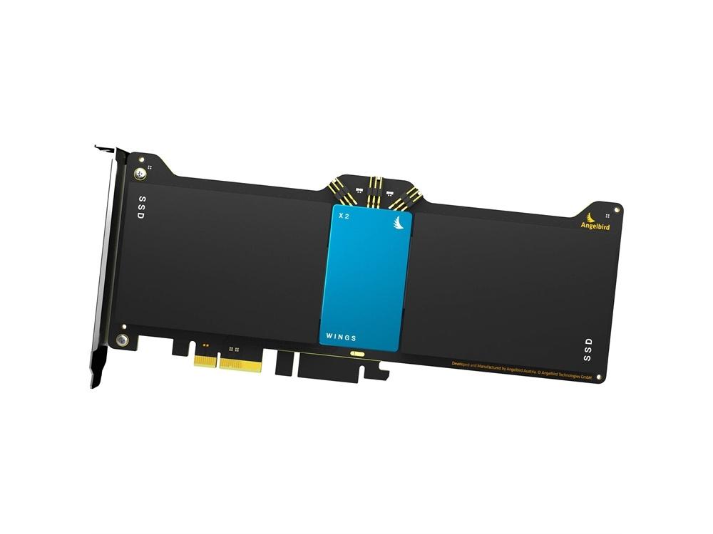 Angelbird Wings X2 PCIe Gen2 x2 Hardware RAID Adapter (Blue)