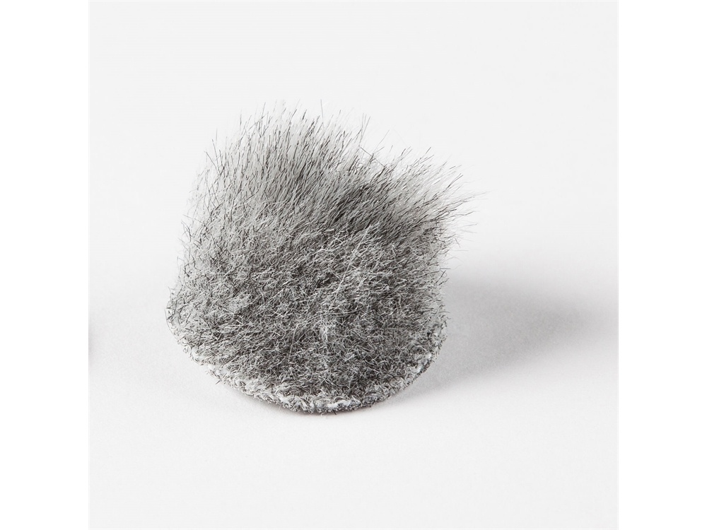 Rycote Overcovers Advanced, Fur Discs for Lavalier Microphones (100-Pack, Grey)