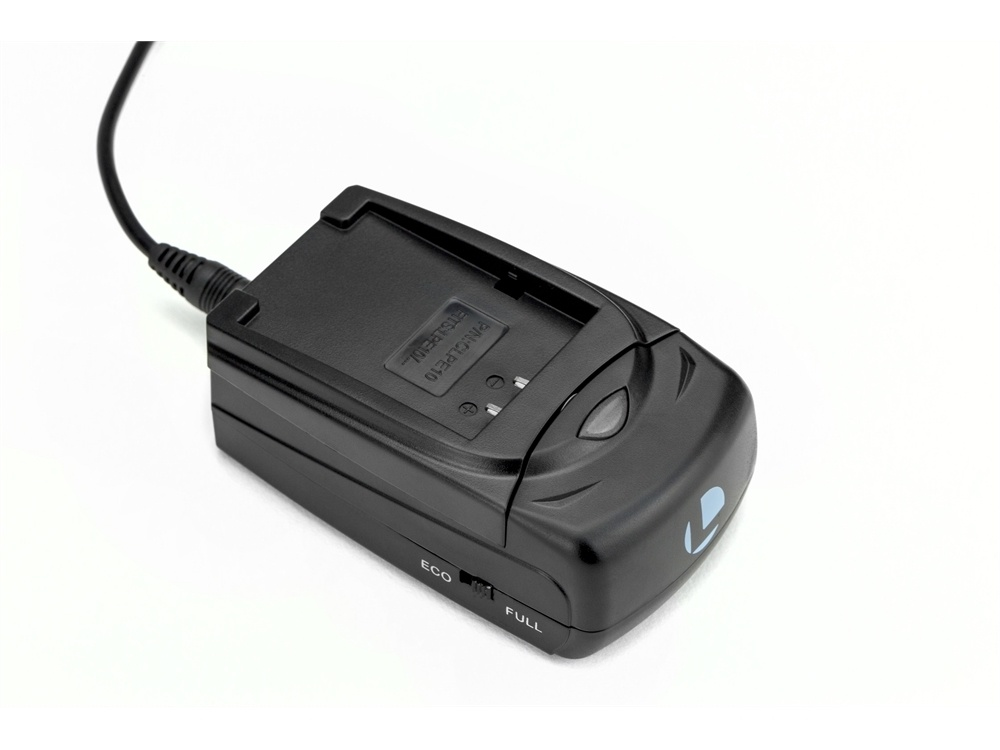 Luminos Universal Compact Fast Charger with Adapter Plate for Panasonic DMW-BLF19