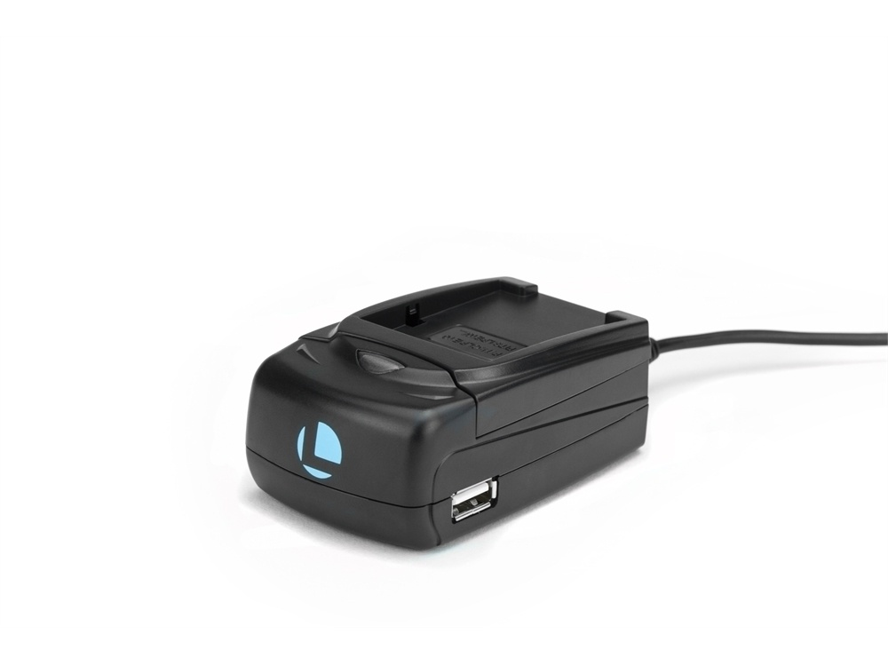 Luminos Universal Compact Fast Charger with Adapter Plate for Canon LP-E8