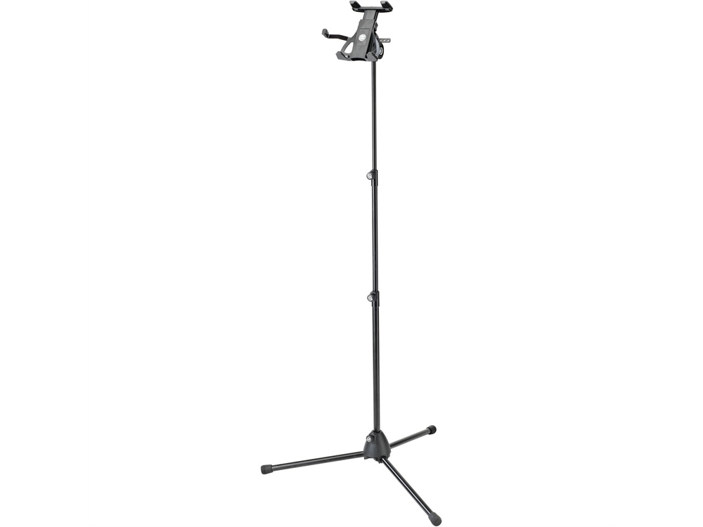 "K&M 19776 Universal Tablet Holder with Microphone Stand (Euro 3/8"" Thread)"