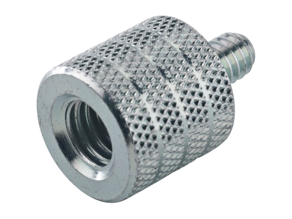 "K&M 3/8"" to 1/4"" x 10mm Thread Adapter (Zinc-Plated)"