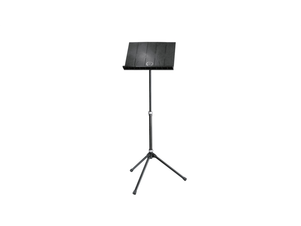 K&M 12120 Orchestra Music Stand with Carry Bag (Black)