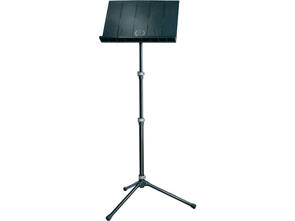 K&M 12125 Lightweight Collapsible Music Stand with Added Extension and Bag (Black)