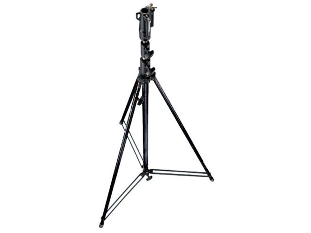 Manfrotto 111BSU Tall Steel Cine Stand with Leveling Leg, Black (3.6m)