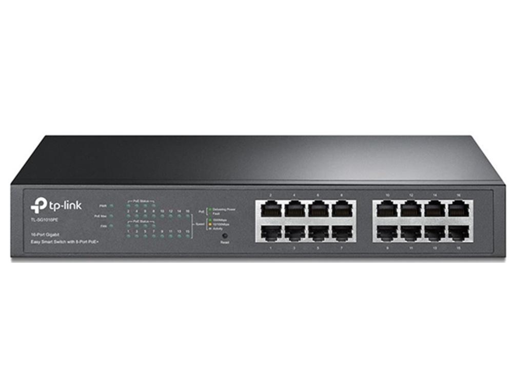 TP-Link TL-SG1016PE V2 16 Port Gigabit Desktop/Rackmount Switch with 8 Port PoE+