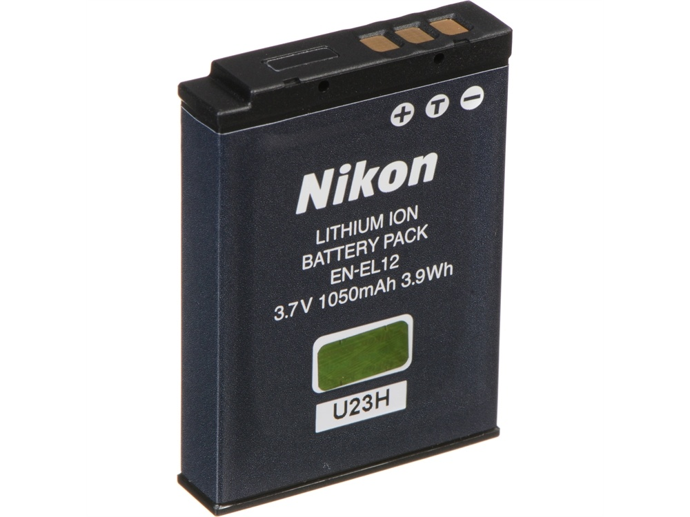 Nikon EN-EL12 Rechargeable Lithium-Ion Battery (3.7V, 1050mAh)