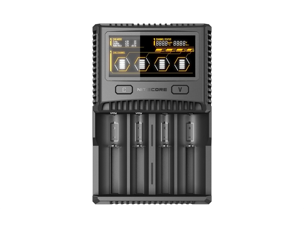 NITECORE SC4 Universal Charger for Lithium-Ion, NiMH, or NiCD Batteries