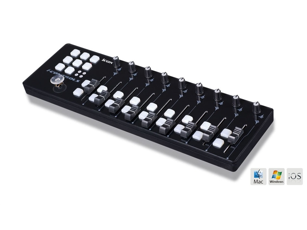 Icon Pro Audio iControls Mini USB MIDI Controller (Black)