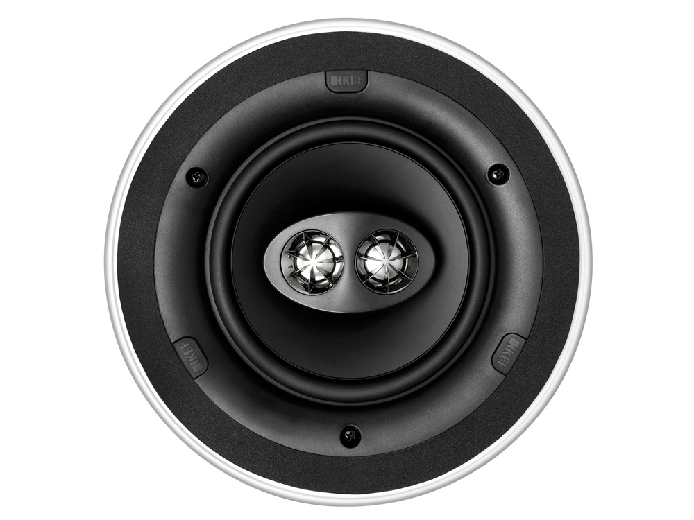 "KEF Ci160CRDS Ultra Thin Bezel 6.5"" Dual Stereo Round In Ceiling Speaker"