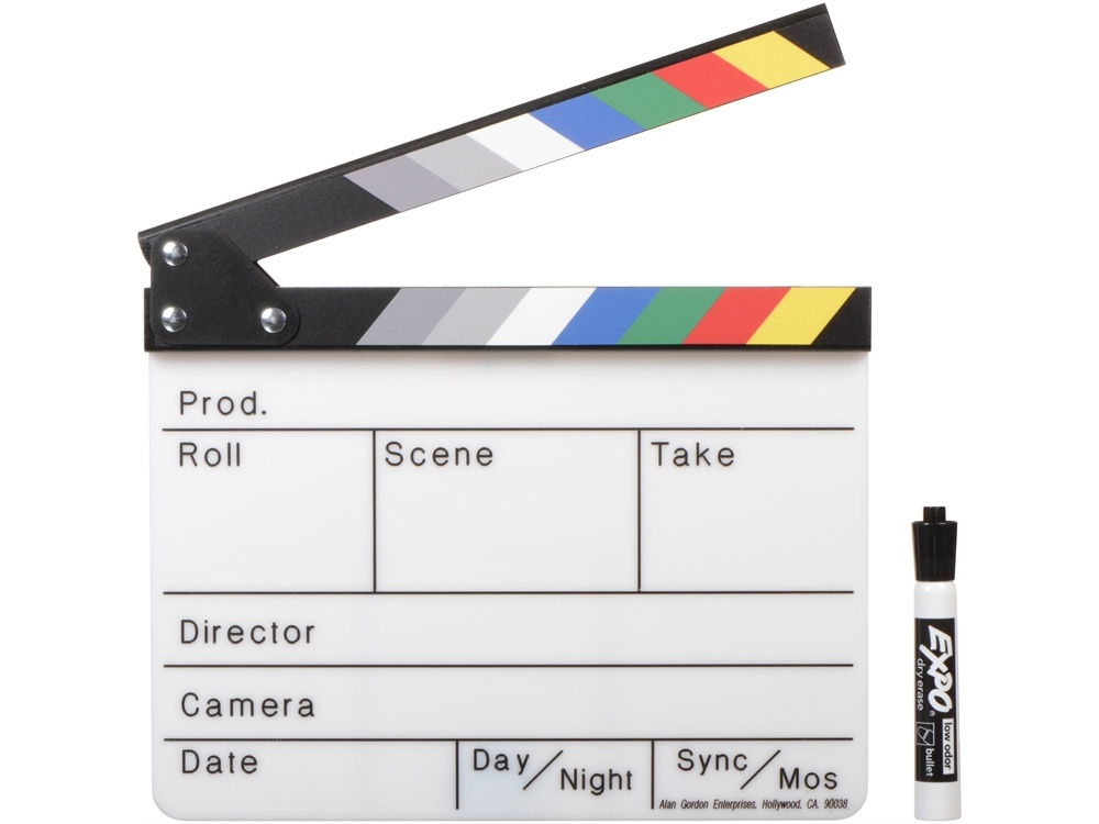 Alan Gordon Enterprises Color Combo Scene Slate with Pouch and Marker