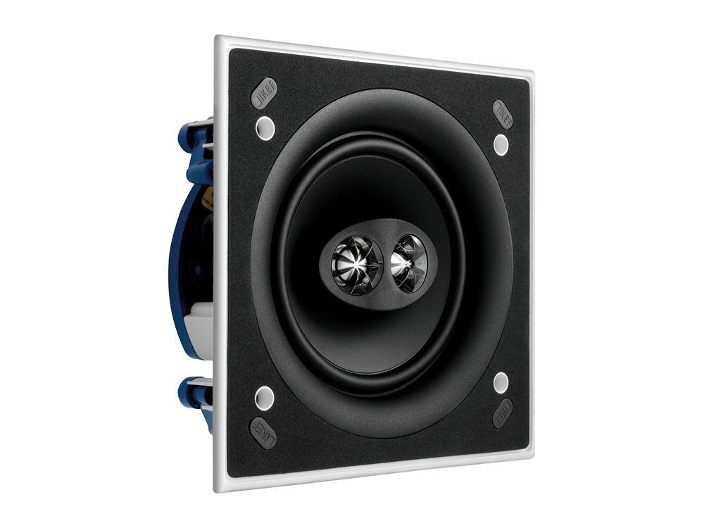 """KEF Ci160CSDS KEF Ultra Thin Bezel 6.5"""" Dual Stereo Square In Ceiling Speaker"""