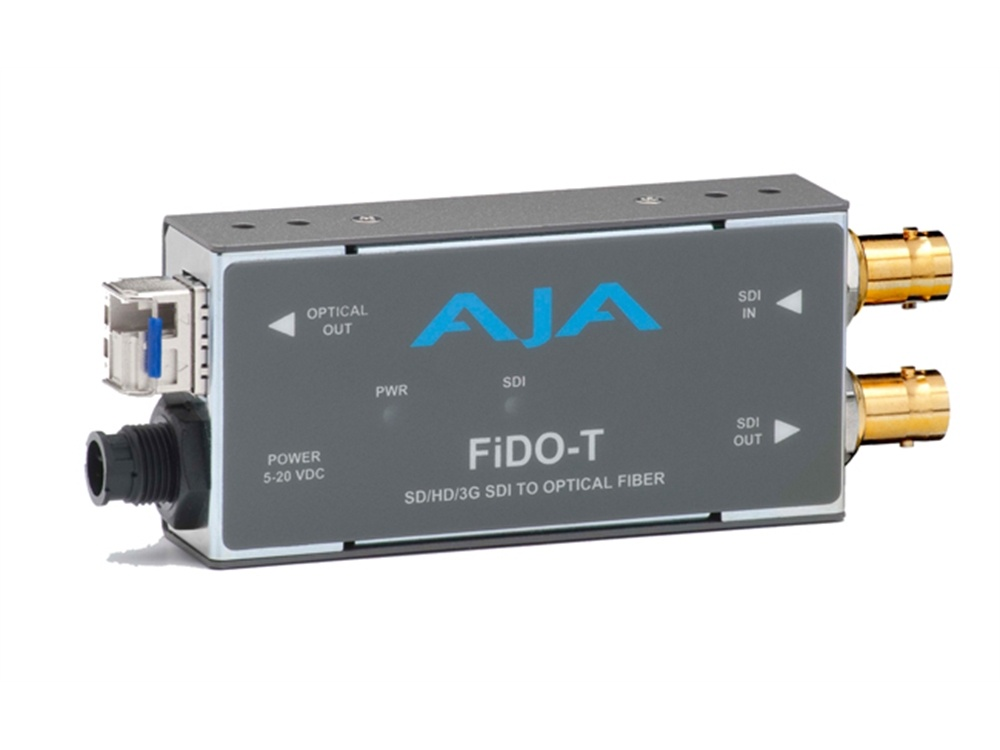 AJA FiDO-T SD/HD/3G SDI to Optical Fibre Converter