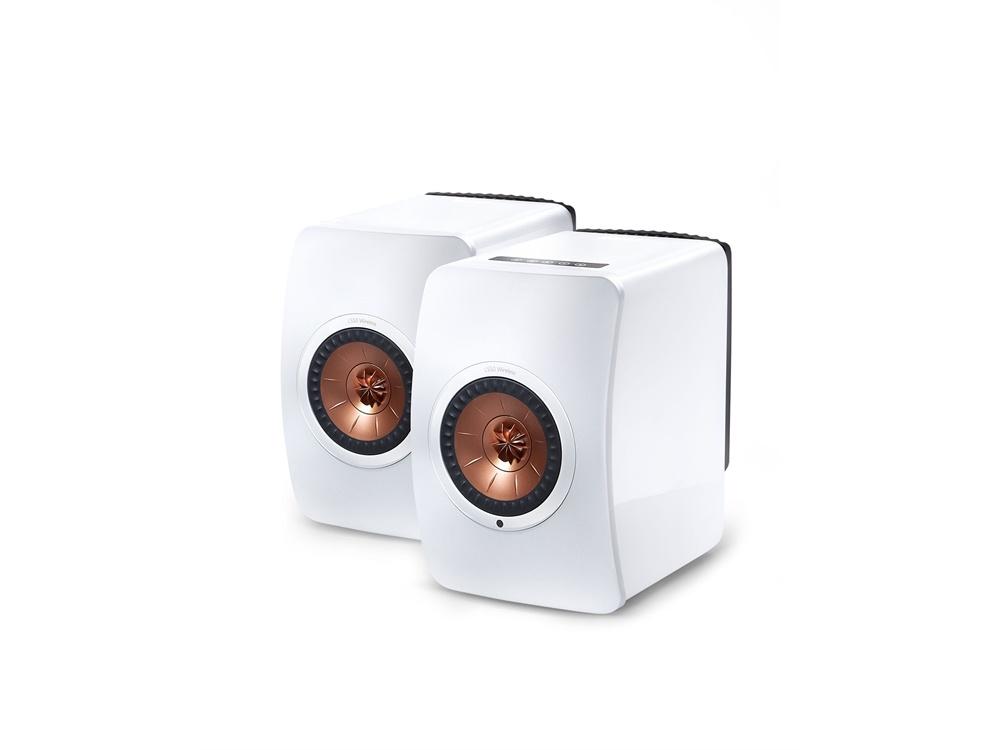 KEF LS50WLESSW Wireless Professional Studio Monitor Speakers - Pair (White)